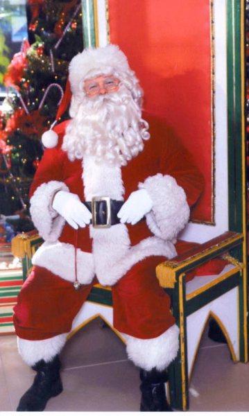 Santa seated